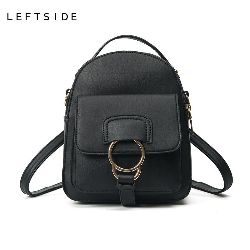 LEFTSIDE 2017 Women s Cute Mini pu Leather Backpack children Small backpacks women back pack bag