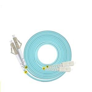 Image 2 - OM3 10 m LC SC FC ST UPC Duplex de Fibra Óptica Patch Cable Jumper 2 Core Patch Cord Multimodo 2.0mm Patchcord Fibra Óptica