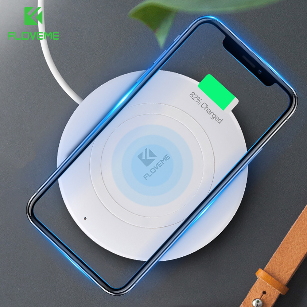 floveme qi wireless charger for iphone x 8 8 plus wireless. Black Bedroom Furniture Sets. Home Design Ideas
