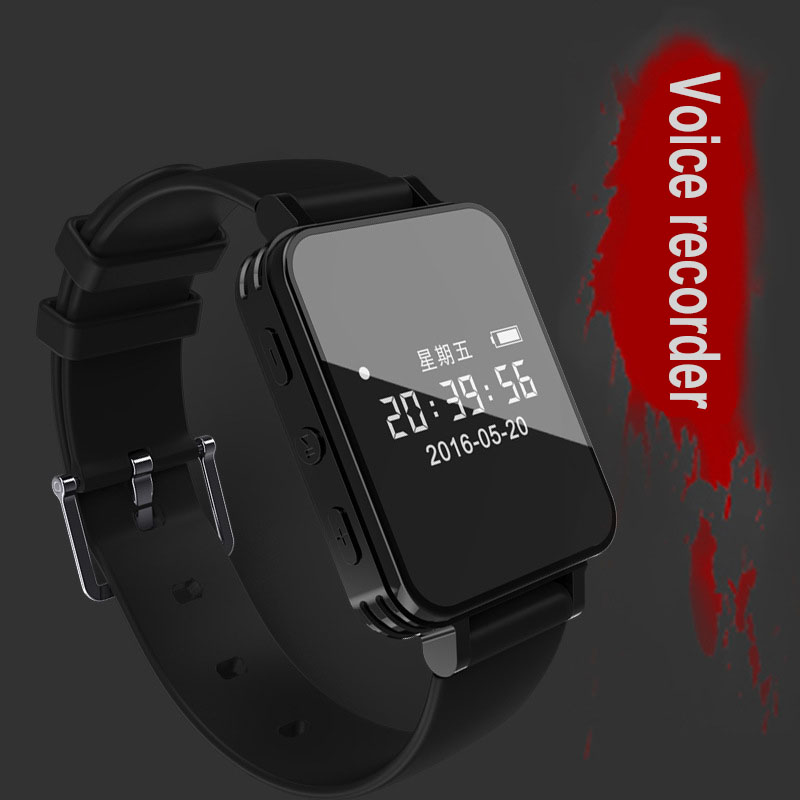 Digital Voice Recorder Watch Audio Recorder Dictaphone Sport Wearable Wrist band Pedometer Waterproof 8G Recording Mini MP3 vandlion v2 digital voice recorder wrist watch audio rechargeable dictaphone mp3 player mini recording pen recorder for business