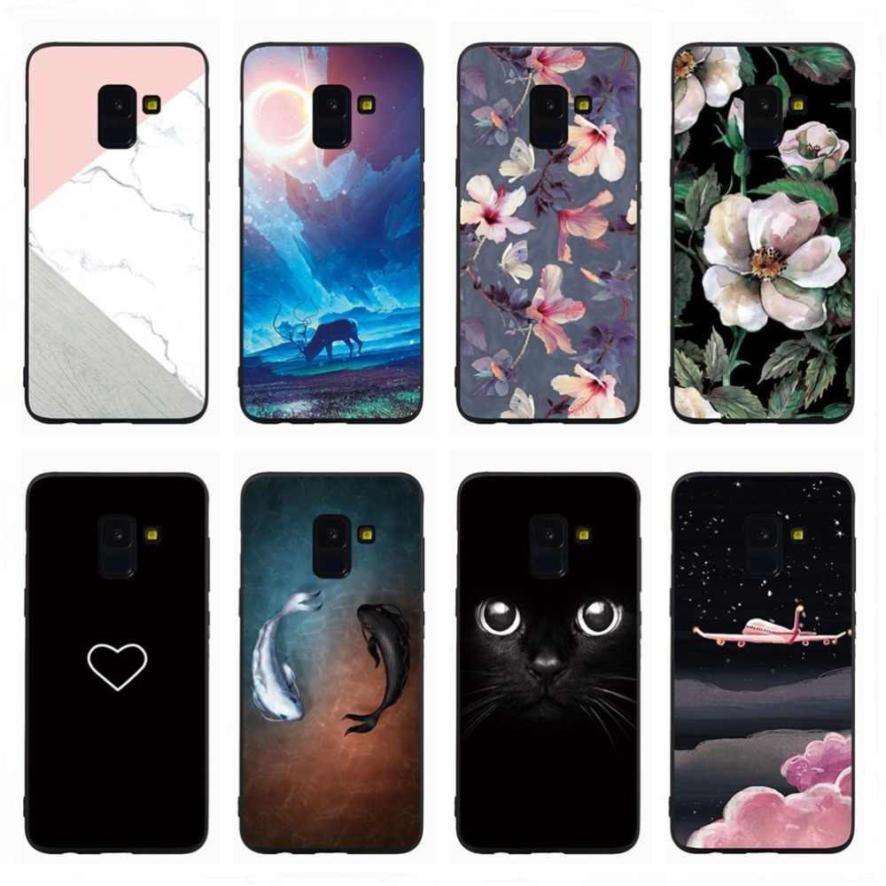 Phone Cover For Samsung J8 J3 J4 J6 2018 J5 J7 Prime J1 J2 J3 J5 J7 2016 Lovely Heart Marble Flowers Soft Case Shell Funda Coque