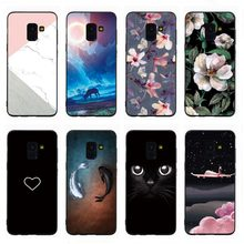 Phone Cover For Samsung J8 J3 J4 J6 2018 J5 J7 Prime J1 J2 J3 J5 J7 2016 Lovely Heart Marble Flowers Soft Case Shell Funda Coque(China)