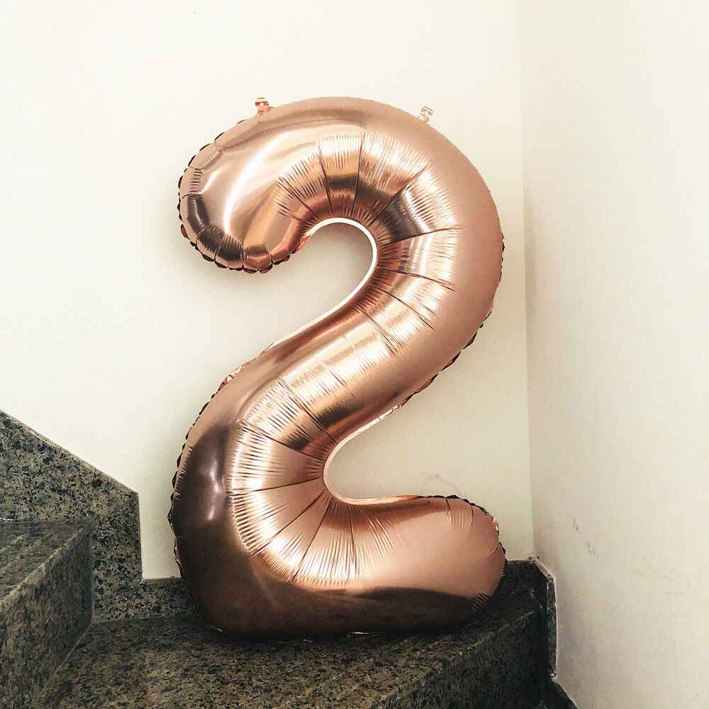 Rose Gold Party Balloons Number Ballon Party Decoration Air Ballon Inflatable Balls Birthday Party Decorations Kids Globos Balon