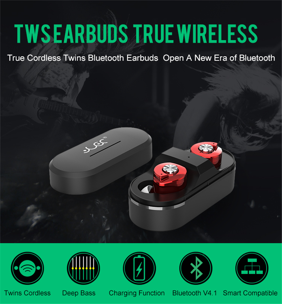 Mini Twins Headsets Wireless Bluetooth In ear Earphones Binaural Portable Rechargeable Stereo Earbuds with charger box Earphone