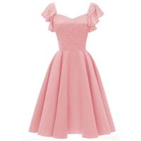 Short V collar flying chaperone wedding party dress 2018 new applique ladies graduation ceremony party ball dress Vestido.