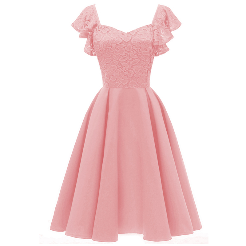 Short V Collar Flying Chaperone Wedding Party Dress 2019 New Applique Ladies Graduation Ceremony Party Ball Dress Vestido.
