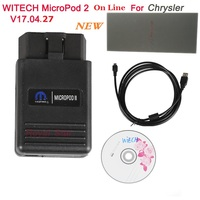 Free ship WITech Micro Pod2 V17.04.27 Auto Scanner for Chrysler with Multi Language Work as Replacement for Witech Pod