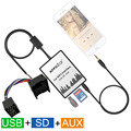 Автомобильный Цифровой Музыки Чейнджер DMC USB SD AUX-IN Mp3-плеер Адаптер для BMW 3 5 7X3X5 Z3 Z8 MINI R5x Rover 75 17Pin Круглый Plug