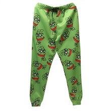 3D штаны для бега с лягушкой, мужские/женские спортивные штаны с забавными рисунками, новинка, штаны для бега, штаны с эластичной резинкой на талии, прямые поставки