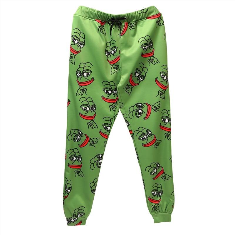 3D Pepe The Frog Joggers Pants Men/Women Funny Cartoon Sweatpants 2019 New Trousers Jogger Pants Elastic Waist Pants Dropship