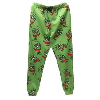 3D The Frog spodnie joggery mężczyźni kobiety Funny Cartoon spodnie dresowe 2020 nowe spodnie spodnie do biegania spodnie z elastyczną gumką w pasie Dropship tanie i dobre opinie UNICOMIDEA Poliester spandex Midweight 0 - 0 NONE Pełnej długości Suknem REGULAR Na co dzień Mieszkanie Elastyczny pas