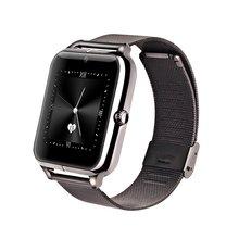 สีดำZ50โทรศัพท์นาฬิกาสมาร์ทบลูทูธระบบGSM NFC G-sensorกล้อง1ซิมPedometerอยู่ประจำที่เตือนโทรSMSซิงค์สำหรับสมาร์ทโทรศัพท์