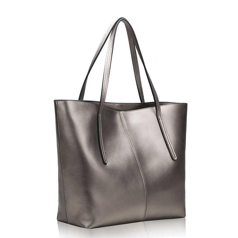 DIENQI Высокое качество Большой Ёмкость из натуральной кожи сумки на плечо для Для женщин 2018 Роскошные модные женские Сумки черный мешок основной