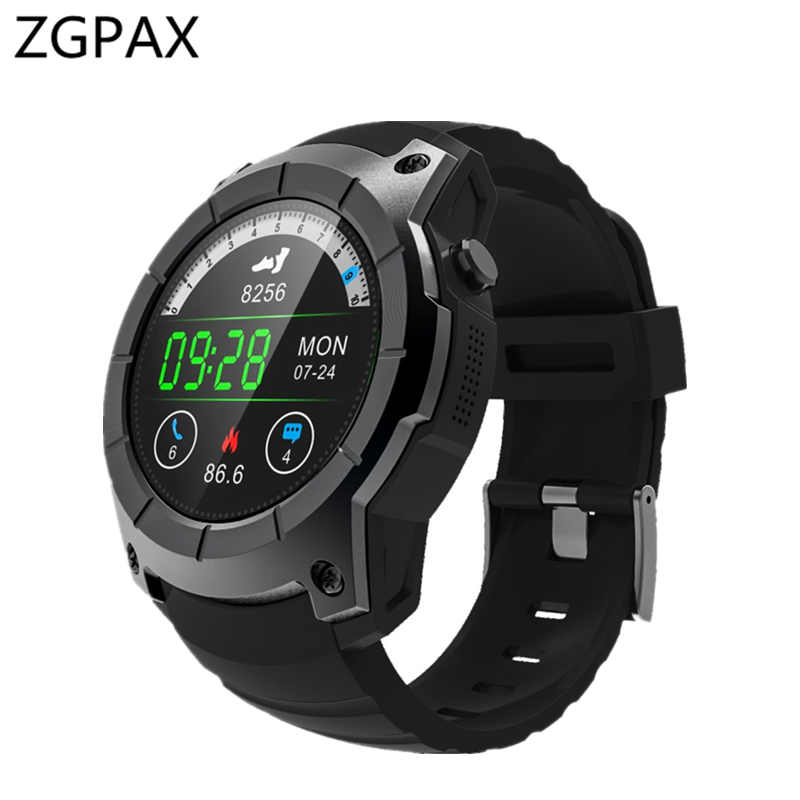 New ZGPAX GPS Sports Watch Z58 MTK2503 Heart rate monitor Smartwatch multi-sport model smart watch for Android ios Xiaomi gps sim card gsm sports watch s958 mtk2503 heart rate monitor smartwatch multi sport model smart watch for android ios