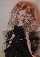 Ellana 1/4 female bjd female doll give eyeball joint doll gift
