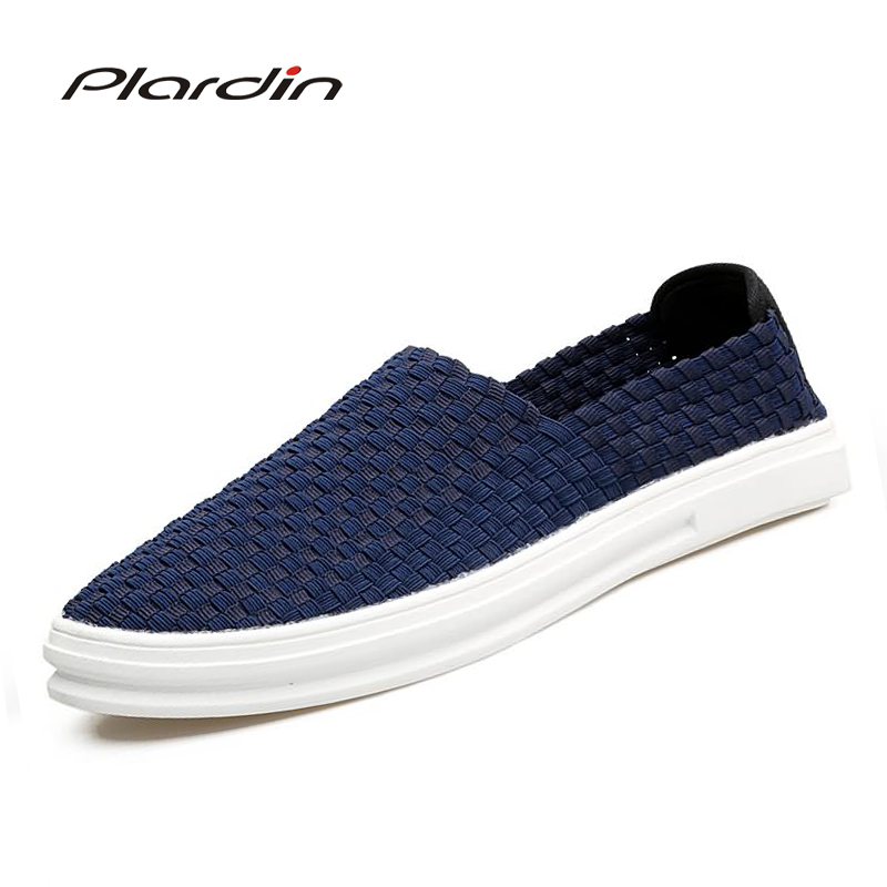 plardin 2018 Summer mens Mixed color soft Leisure Fashion Flat Sandals man Shoes Breathable Narrow Band Woven Jelly Men Shoes