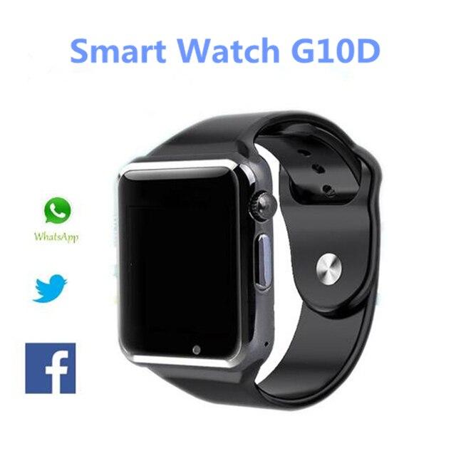 Новая Мода Smart Watch G10D Bluetooth Наручные Часы Спорта Шагомер MTK6261D Sim-карты Inteligente Smartwatch Для Android Телефона