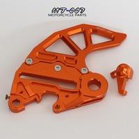CNC Billet Rear Brake Disc Guard Brake Disc Adaptor Caliper Bracket For KTM SX SXF XC