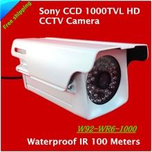 2017 новый 1/3 «sony ccd 1000tvl hd cctv водонепроницаемая камера видеонаблюдения открытый безопасности, камеры ик 100 м бесплатная доставка
