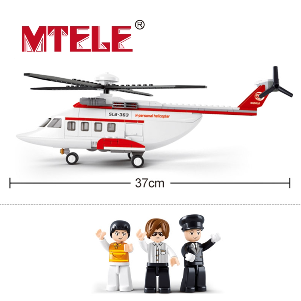 MTELE Brand  Airbus Military Helicopter Model Airplane Building Blocks Airport Bricks Toys Compatible With Lego High Quality