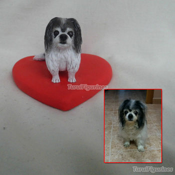 custom Miniature Ooak handmade pet for girlfriend dog miniature from picture photo polymer clay custom dolls cartoon doll gift
