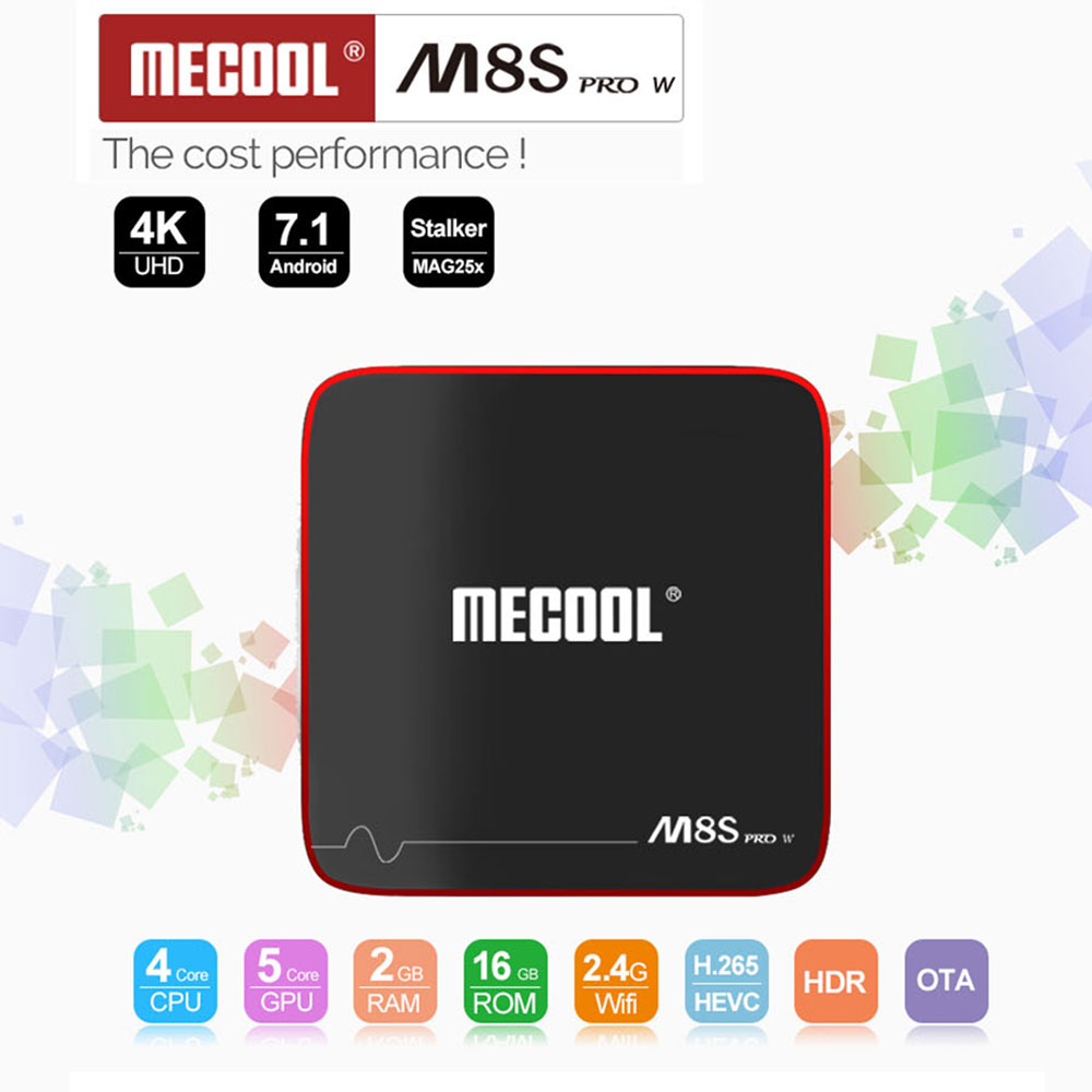 MECOOL M8S PRO Android TV Box M8S PRO Amlogic S905W Android 7.1 2G RAM 16G ROM WiFi 4K H.265 Smart Mini Set Top Box v88 pro tv box 2g ram 16g rom android 8 1 tv box 4k hdr h 265 iptv set top box with youtube netflix upgrade tv box android 7 1