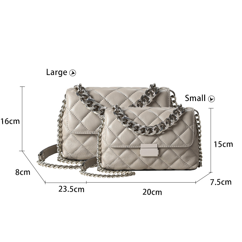 Genuine Leather Chain Shoulder Bags for Women Luxury Handbags Women Bags Brand Design Fashion Shoulder Messenger Bags for Lady