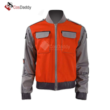 Back To The Future Cosplay Costume Jr Marlene Seamus Marty McFly Jacket Orange Outwear Coat  volver al futuro