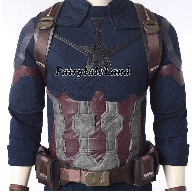 Image 4 - Avengers Infinity War Captain America Cosplay Costume Carnival Halloween costumes Superhero Steve Rogers Captain America Suit-in Movie & TV costumes from Novelty & Special Use