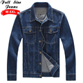 Aztec Mens Plus Size Denim Jacket Tough Heavy Duty Classic Western Style Casual Jeans Coat 4XL 5XL 6XL 8XL