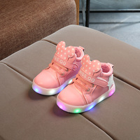 2017 New Spring And Autumn Children S Shoes LED Light Shoes Girls Sports Light Shoes Baby