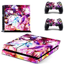 Anime Cute Girl No Game No Life PS4 Skin Sticker Decal Vinyl for Sony Playstation 4 Console and 2 Controllers PS4 Skin Sticker
