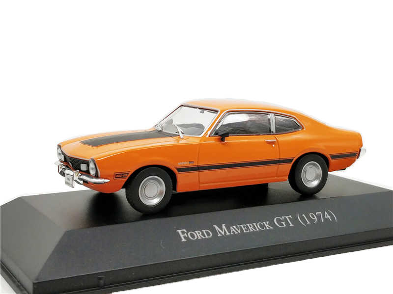 1:43 IXO Collections Diecast Model Car Brazilian classic Ford Maverick GT 1974 Miniature Vehicle