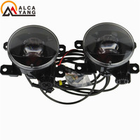 Malcayang Car Styling LED Round Bumper fog lamps Devil Eye For Renault SCENIC 2 2003 2015 /