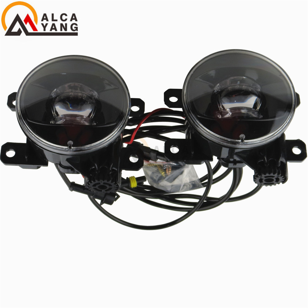 Malcayang Car Styling <font><b>LED</b></font> Round Bumper fog lamps Devil Eye For <font><b>Renault</b></font> <font><b>SCENIC</b></font> <font><b>2</b></font> 2003-2015 / image