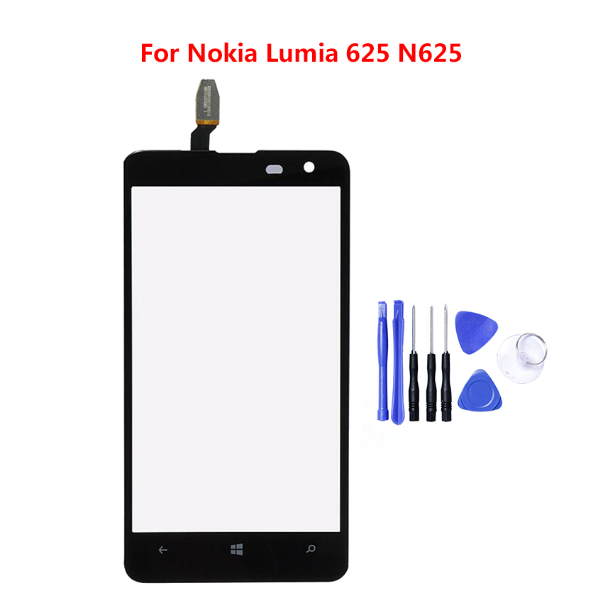 For <font><b>Lumia</b></font> <font><b>625</b></font> Touchscreen Front Panel Digitizer For <font><b>Nokia</b></font> <font><b>Lumia</b></font> <font><b>625</b></font> N625 <font><b>Touch</b></font> <font><b>Screen</b></font> <font><b>Sensor</b></font> LCD Display Glass Cover Replacement image
