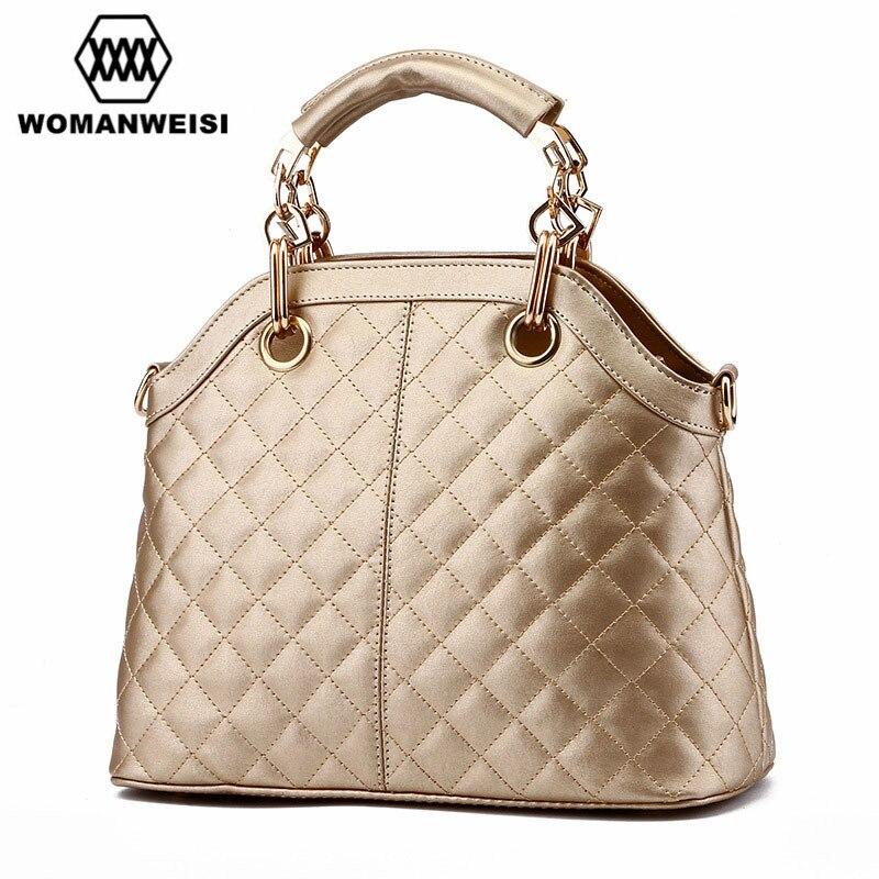 Luxury Gold Black PU Leather Women Bags 2017 New Fashion Female Messenger Crossbody Bag Ladies Hand Bags Kabelky Bolsos Borsa
