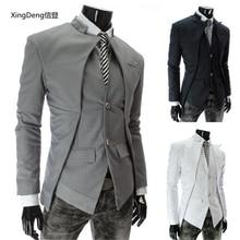 XingDeng Мужская куртка,, горячая распродажа, осенняя и зимняя Асимметричная одежда на пуговицах, специальное мужское модное пальто