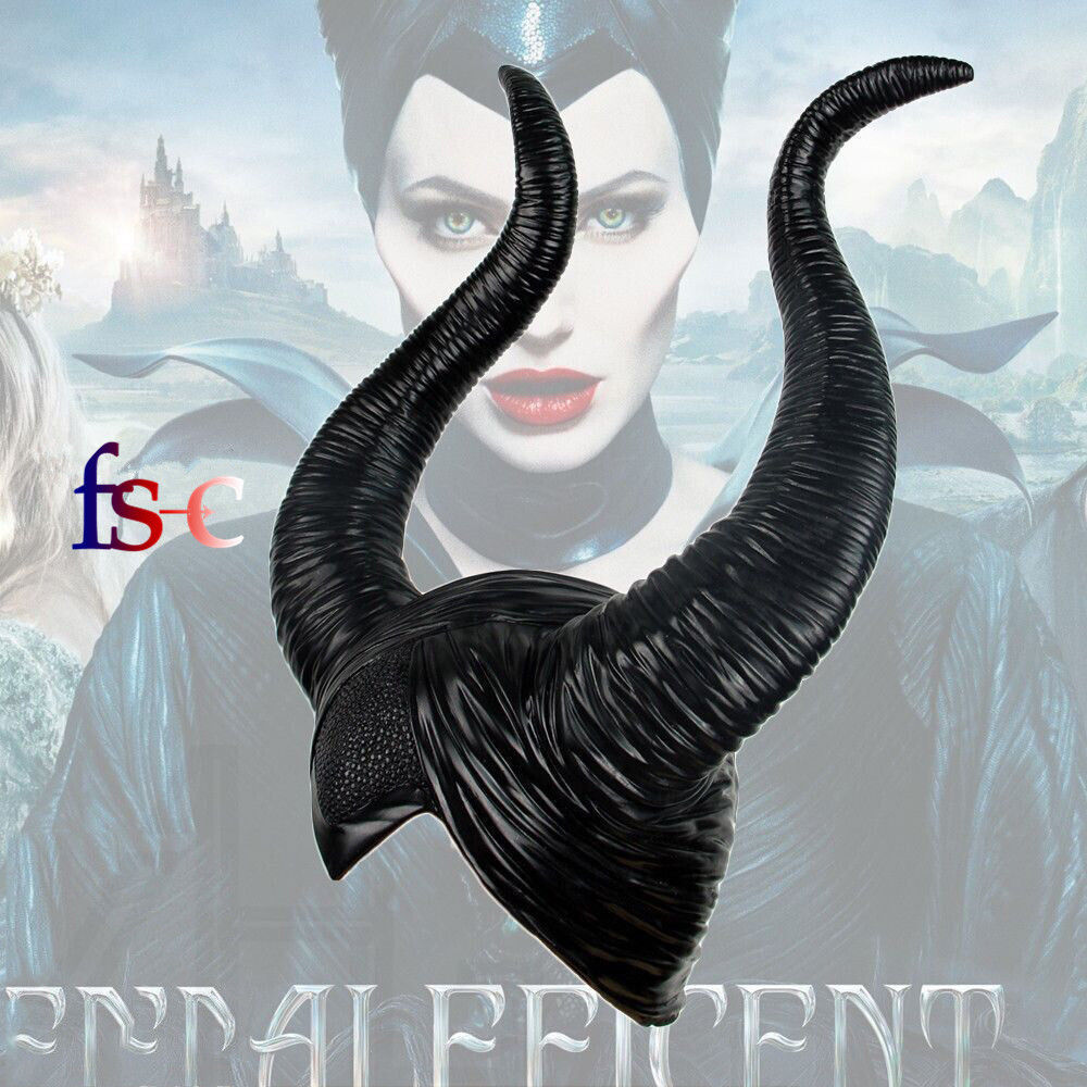 Halloween Creepy Maleficent Horns Hats for Adult Women Cosplay Halloween Party Costume Jolie Headpiece Hat Cap Masks Drop Ship zombie skull skeleton half face masks for movie prop cosplay halloween airsoft paintball protective masks authorized chief m05