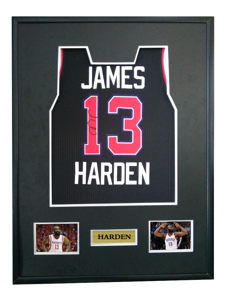 meet b7ae9 515a6 US $675.0  James Harden signed autographed basketball shirt jersey come  with Sa coa framed Rockets-in Frame from Home & Garden on Aliexpress.com    ...