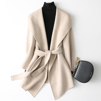 YOLANFAIRY Double Sided Cashmere Jackets Autumn Winter Wool Coat Women Top Quality Warm Overcoat abrigo invierno mujer MF639