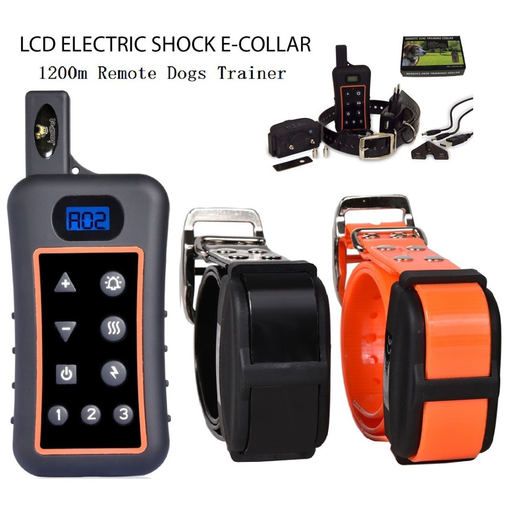 JANPET Remote 1200m Hunting Dog Training Collar Waterproof Rechargeable Dog Training Shock Collars