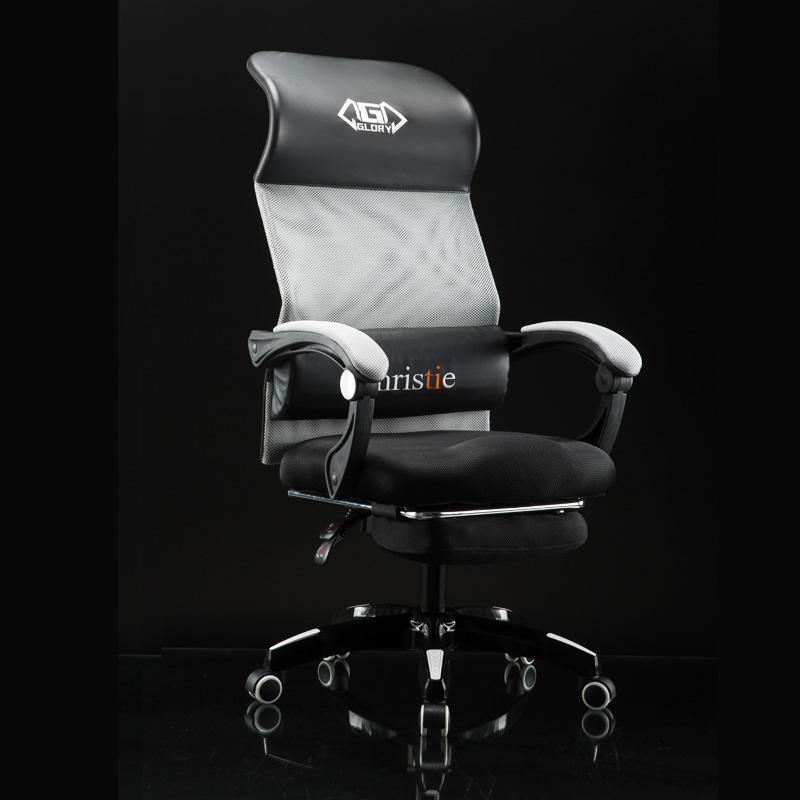 Modern Simple Reclining Office Chair With Footrest Lifted Rotated Household Computer Chair Stable Ergonomic Massage Gaming Chair