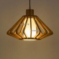 Nordic Criativo Luzes Pingente de Madeira feitos à mão forma ninho de pássaro de suspensão luz pendurado Lâmpada Incandescente Lâmpadas luminárias|Luzes de pendentes| |  -