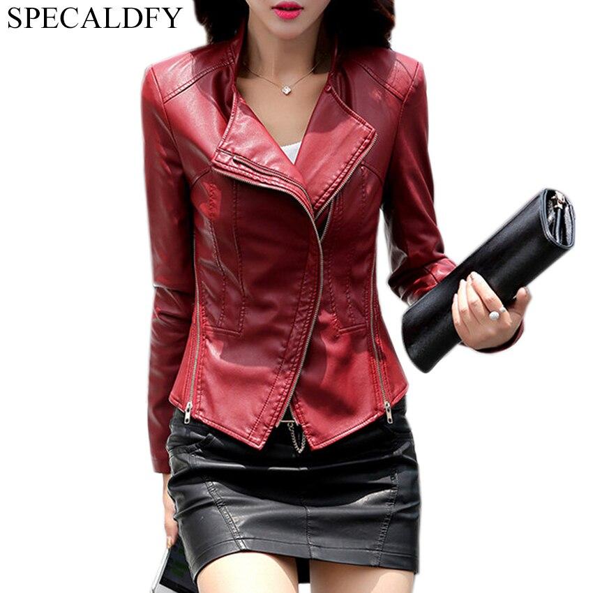 4XL 5XL Plus Size Coat Women Wine Red Black Faux   Leather   Jacket Women Motorcyle Zippers Biker Jackets Coats Chaqueta Mujer