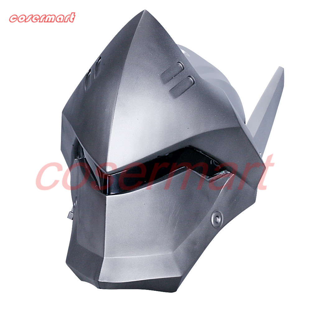 Game OW Over Watch Genji Overhead Helmet Cosplay Mask PVC Helmet Halloween Carnival Party Prop (2)