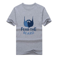 2017 Grizzlies MARC GASOL 33 T Shirt 100 Cotton 12 Short Sleeve Fear The Beard T