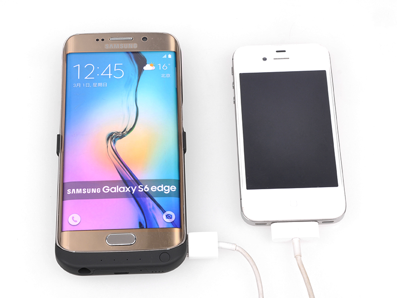 Calitte 6500mAh Battery Charger case For Samsung Galaxy S6 edge Backup External Power case for Samsung
