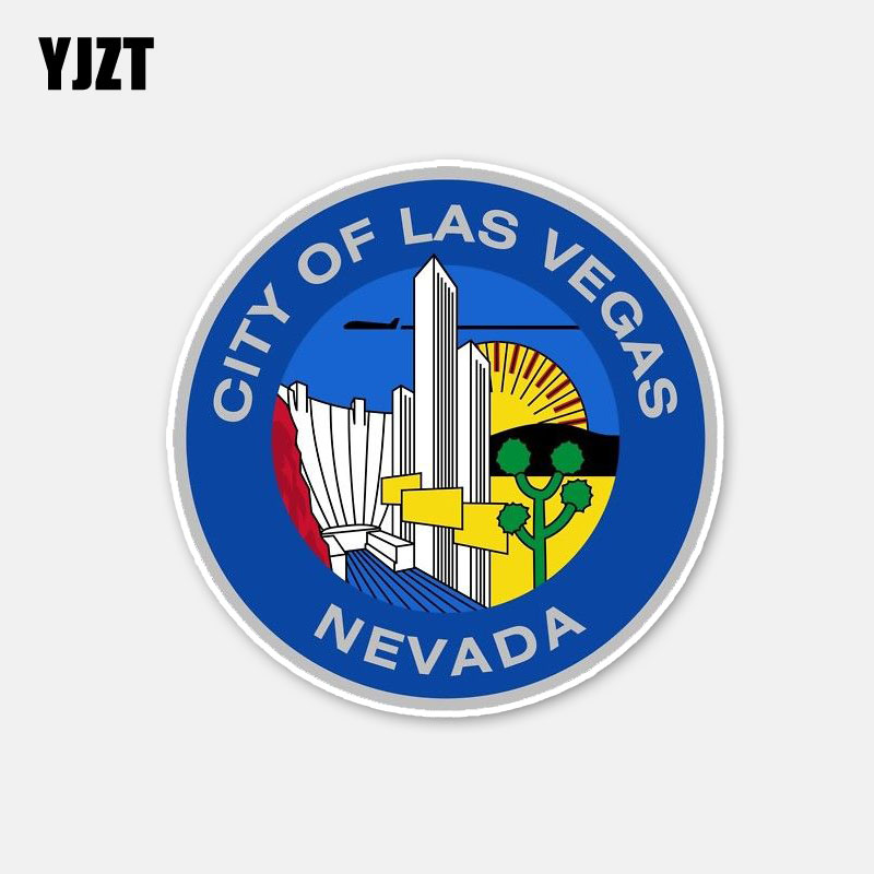 YJZT 11CM*11CM Creative City Of Las <font><b>Vegas</b></font
