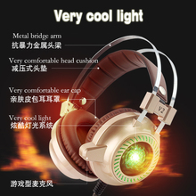 Cheaper Surround sound Gaming Headset 3.5mm wired headset colorful breathing light earmuffs occupation game player headset wearing cozy